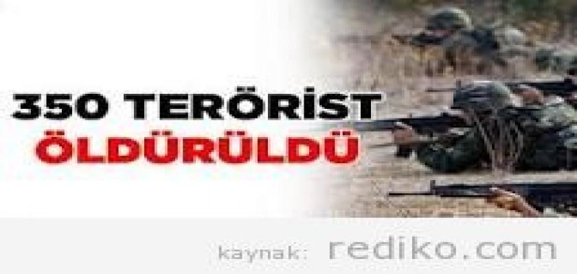 Hakkari'de 350 teröristin öldürüldüğü doğru mu?