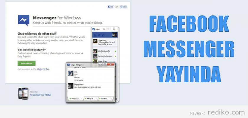 Facebook Messenger Çıktı